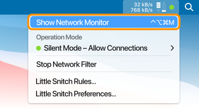 Show Network Monitor